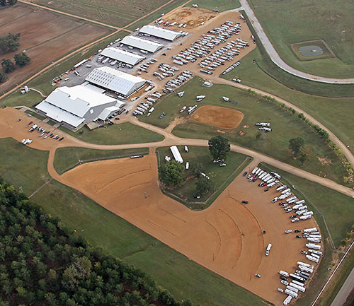 Aerial view so you can see what the Horse Park is